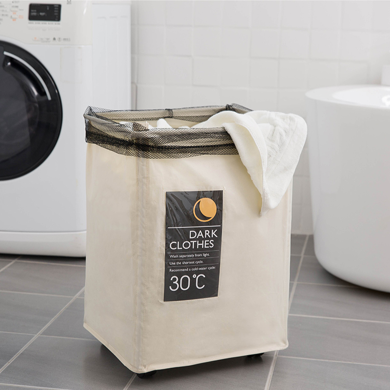 Ihomagic Foldable Laundry Basket With Wheels Collapsible Waterproof Laundry Bin
